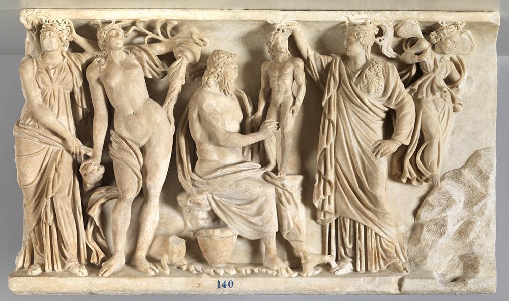 Prometeo y Atenea crean al primer hombre