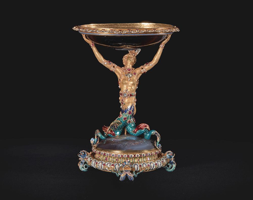 Copa con sirena de oro, Tesoro del Delfín, 1570