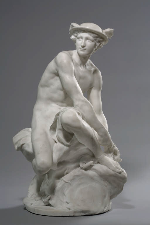 Mercury Attaching his Wings, Jean Baptiste Pigalle, 1744
